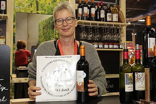 Andrea Zeller manciannes domaine de Lastronques médaille d'argent salon de l'agriculture