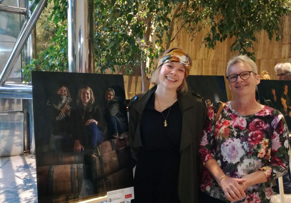 l'exposition les femmes du vin au conseil régional de Toulouse