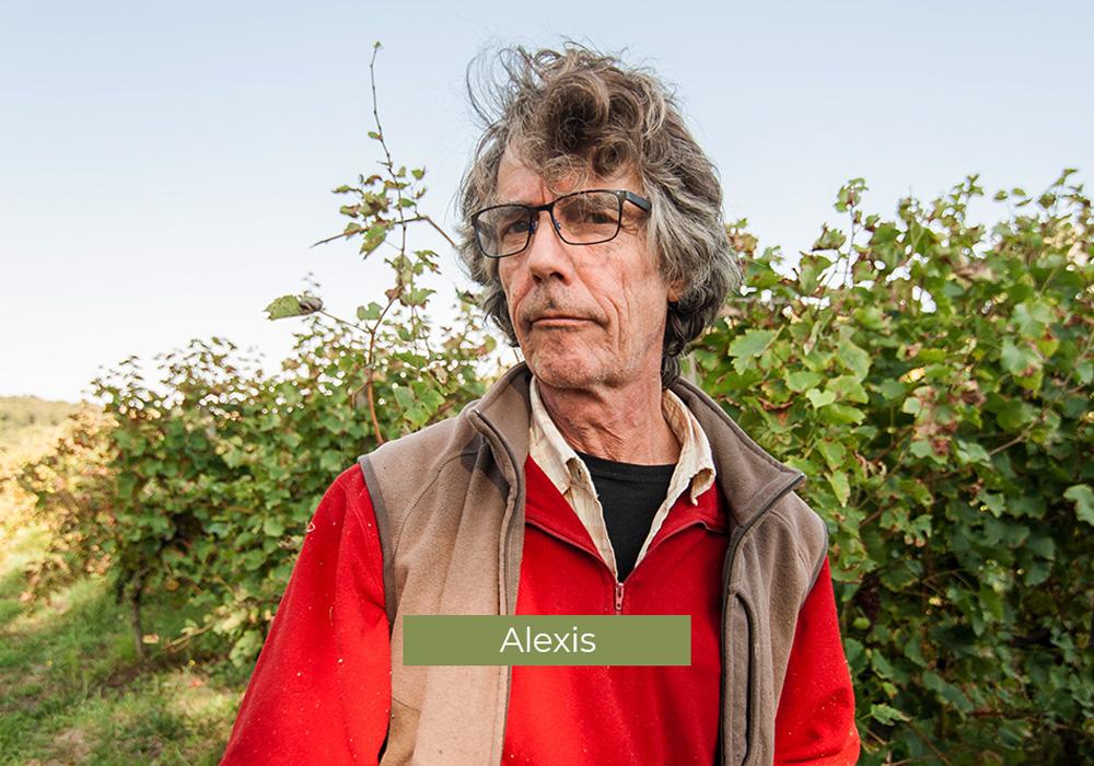Alexis, employé au Domaine de Lastronques, vignoble ariégeois.
